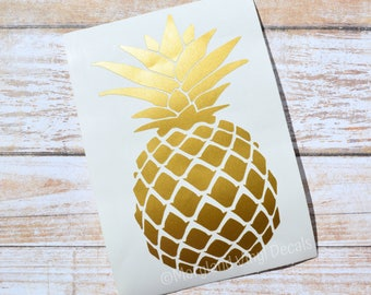 Pineapple Decal, Pineapple Sticker, Yeti Decal, Yeti Sticker, Monogram Decal, Tumbler Decal, Car Decal, RTIC Decal, Macbook Decal