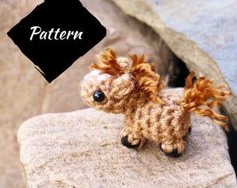 PATTERN - Amigurumi Mini Horse Plush Pattern - Crochet horse pattern - crochet horse pattern - crochet horse pattern - crochet horse pattern