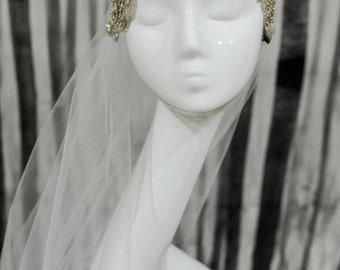 Vintage Style Crystal Juliet Cap Veil