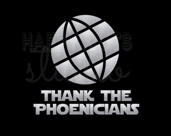 Thank the Phoenicians Disney Spaceship Earth Epcot Matching Family Disney World Vacation DisneyIron On Decal Vinyl for Shirt 042