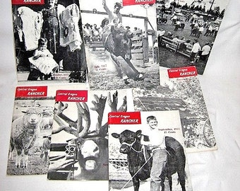 Seven 1950s Issues of Central Oregon Rancher Magazine