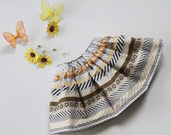 Girls skirt, toddler skirt, 12-18 month size baby skirt, built in bloomers, skort