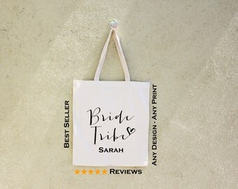 FREE SHIPPING, Bride tribe tote bag, wedding tote bag, bachelorette tote, bridal tote bag, bridesmaid tote, custom tote bag, honeymoon bag