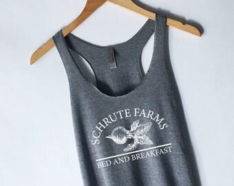 Schrute Farms Tank Top - The Office Shirt - The Office Tank Top - Dwight Schrute Michael Scott Tank Top - Jim Halpert