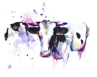 Cow, Original Painting, Original Watercolor Painting
