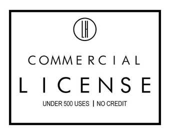 Basic Commercial License / Commercial Use of Graphics / Clip Art License