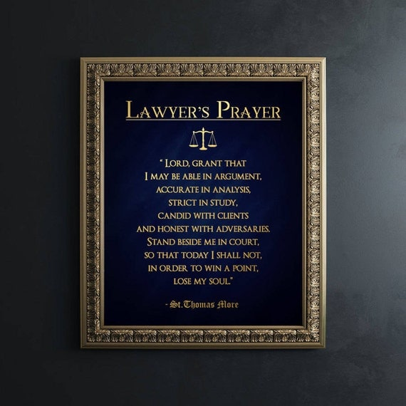 Lawyer Gift Gifts For Lawyers Real Gold Foil Print