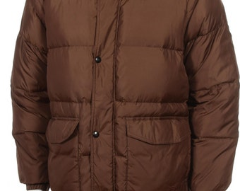 Vintage Fila Goose Down Puffer jacket/Vest  with Removable Sleeves Color Brown Size L