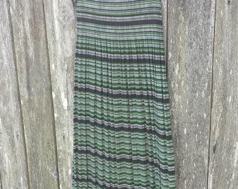 Green and black striped long summer dress/hippy dress/boho dress/long summer dress/hippy summer dress/grunge dress