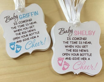 Baby Shower Wine Bottle Favor Tags,Pumpkin Wine Favor Tags,Snowflakes Wine Favor Tags,Baby Elephant Wine Favor Tags,Cheers Tags,Cheers
