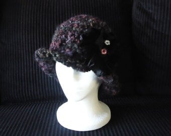 """Womens Hat, chunky wool, Hand crocheted items, Ladies hats, Cloche hat, Holiday hat, gift for her, """"Dobby's Favorite"""" Hat, Mother's day"""