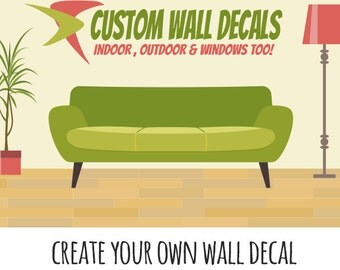 Custom Wall Decal- Personalized Wall decal, wall sticker, custom decal, personalized name, wall decal, vinyl wall decal, window decal