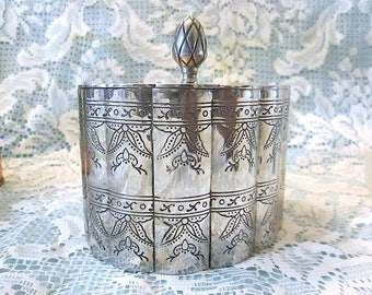 Vintage International Silver Company Silver Plated Jewelry Casket - ca 1991