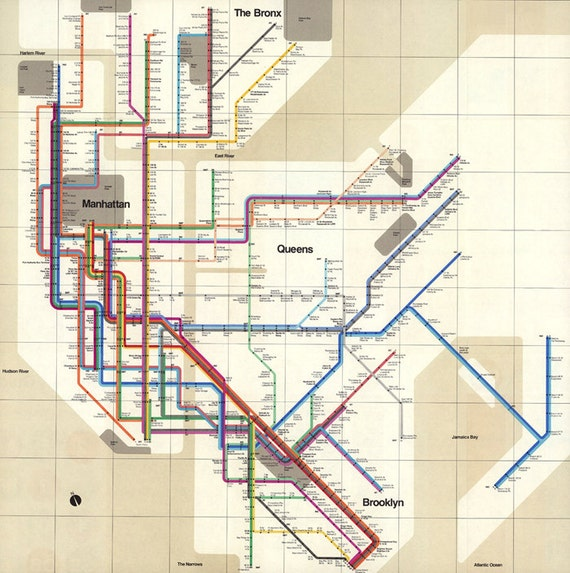 New york map printable vintage subway new york manhattan for Subway vigo