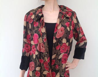 Beautiful 1920s jacket lamé velvet reversible Art Deco vintage antique
