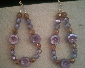 0195-Hibiscus Flower Earrings
