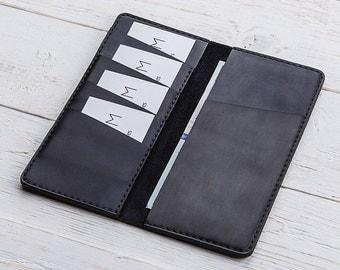 Long Wallet, Simple Wallet, Minimalist Wallet, Womens Wallet, Wallet With Pocket, iPhone Wallet, Leather Wallet, Mens Wallet, Card Holder