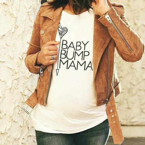 BABY BUMP MAMA Boyfriend Tee or Tank, Prego Mom, Prego Gift, Baby Shower Gift, Baby Mama, Mama Bird, Baby Shower Tee