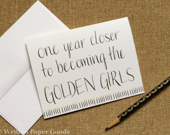 Golden Girls Birthday Card - For Your BFF - A Sassy Card for Your Best Friend - Birthday Candles Motif