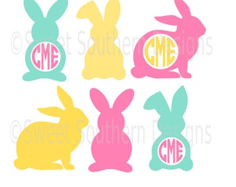 Easter bunny rabbit design set SVG instant download design for cricut or silhouette