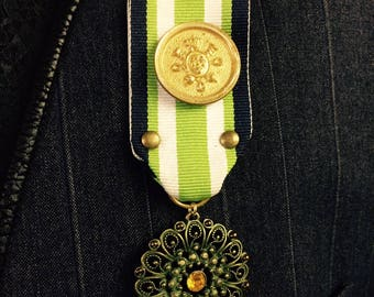 Steampunk Military Lazer Medal