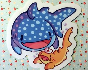 Shark Friends - Vinyl Transparent Sticker