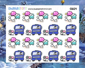 Take the Bus / Transit Planner Stickers - Snomi (S16124)