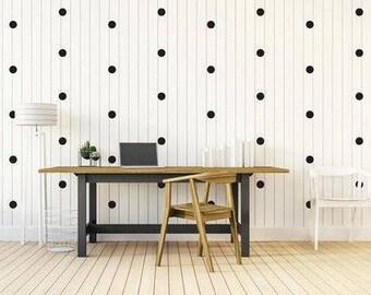 black polka dot wall decals, Wall Stickers, Polka Dot Wall Stickers, Nursery Wall Decal, Home Decor, Kids Room