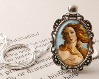 The Birth of Venus Pendant Necklace- Sandro Botticelli Necklace, Renaissance Jewelry, Botticelli Pendant, Venus Jewellery, Nascita di Venere