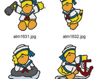 Sailor-Ducks  ( 7 Machine Embroidery Designs from ATW ) XYZ17E