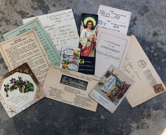 Vintage Religious Ephemera for Journals and Scrapbooking
