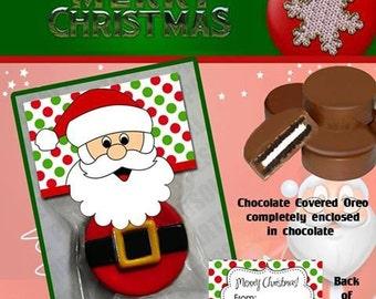 Santa Chocolate Covered Oreo Treats