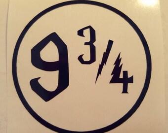 Harry Potter Platform 9 3/4 Decal - permanent vinyl - perfect for Yeti & Rtic cups, dorm room door, laptops, etc.