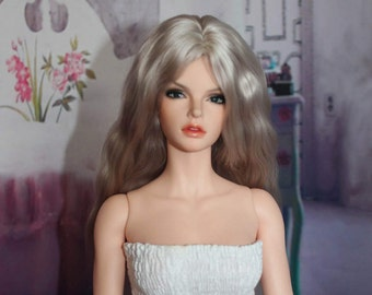Natural Blonde Angora Wig for FID Iplehouse and similar size dolls head
