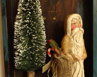 Chalkware Santa -  2017 model, cast from Artist's hand sculpted  original