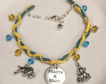 Beauty and the Beast Citrine and Blue Topaz Bracelet