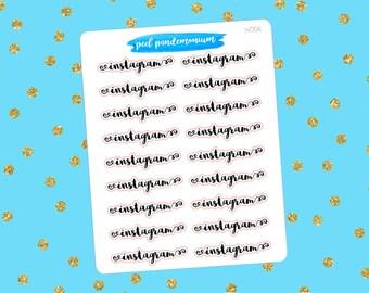 Instagram Word Planner Stickers (W006)