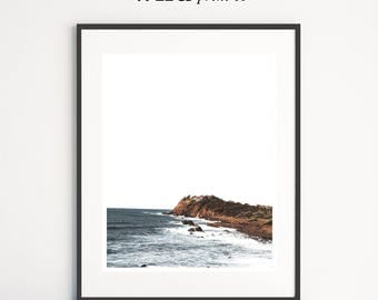 Coastline Print, Ocean Photography, Waves Print, Beach Wall Art, Horizon Prints, Home Decor Wall Art, Australia Print, Bedroom Wall Decor