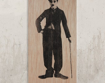 Charlie Chaplin / / Transfer on wood