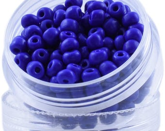 Color: Ghostly Indigo - Round of Beads from Bead dot Deals
