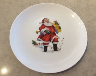 Santa Saint Nick Cookie Dessert Plate Vintage