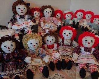 """Custom 25"""" Raggedy Ann Dolls"""