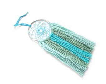 Sea Dream Catcher Seafoam Green Dream Catcher Aqua Blue Dream Catcher Turquoise Blue Sea Dreamcatcher Beach Decor Sea Decor Wall Hanging