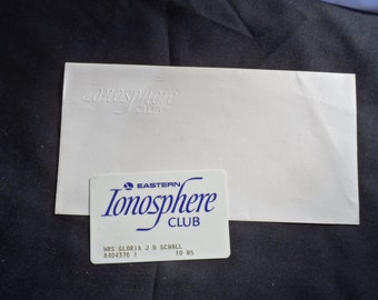 FREE SHIPPING in USA Eastern Airlines Ionosphere Club Card and Embossed Envelope  Airline Memorabilia, Eastern Airlines Memorabilia  1034