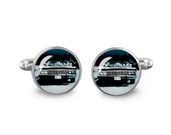 Impala Cuff Links Supernatural Cufflinks KAZ 2Y5 16mm Cufflinks Gift for Men Groomsmen Novelty Cuff links Fandom Jewelry