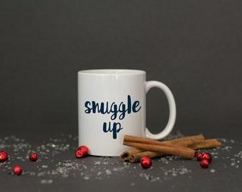 Snuggle up winter mug // christmas mug // christmas gift // stocking stuffer // secret santa gift // christmas gift for her // gift for bff