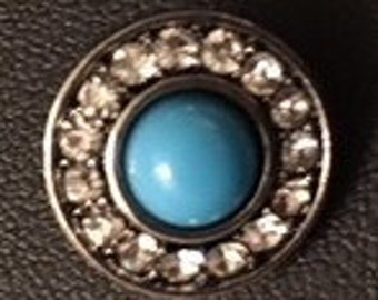 Cute New 12mm Interchangeable Snap with Rhinestones - Great Snap to Add to Your Collection