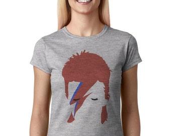 David Bowie shirt Ziggy Stardust women t shirt WXG-10252