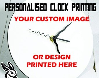 Personalised Clock - Custom images to printed to quality wall clocks