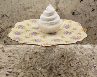 Wedding Cake Stand, Glass Cake Stand, Cake Pedestal,  Tea Party Cake Stand, Cupcake Stand, Wedding Cupcake Stand, Dessert Stand, Cake Stand